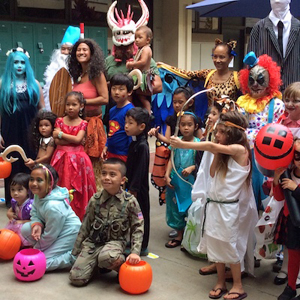 UH Manoa law student and their families celebrate Halloween