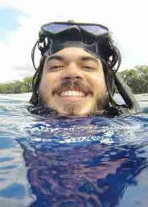 Lecky in the ocean