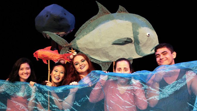 Cast members of Nanaue the Teenage Sharkman