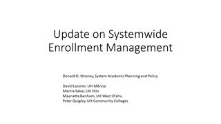 Update on Systemwide Enrollment Management, March 2018