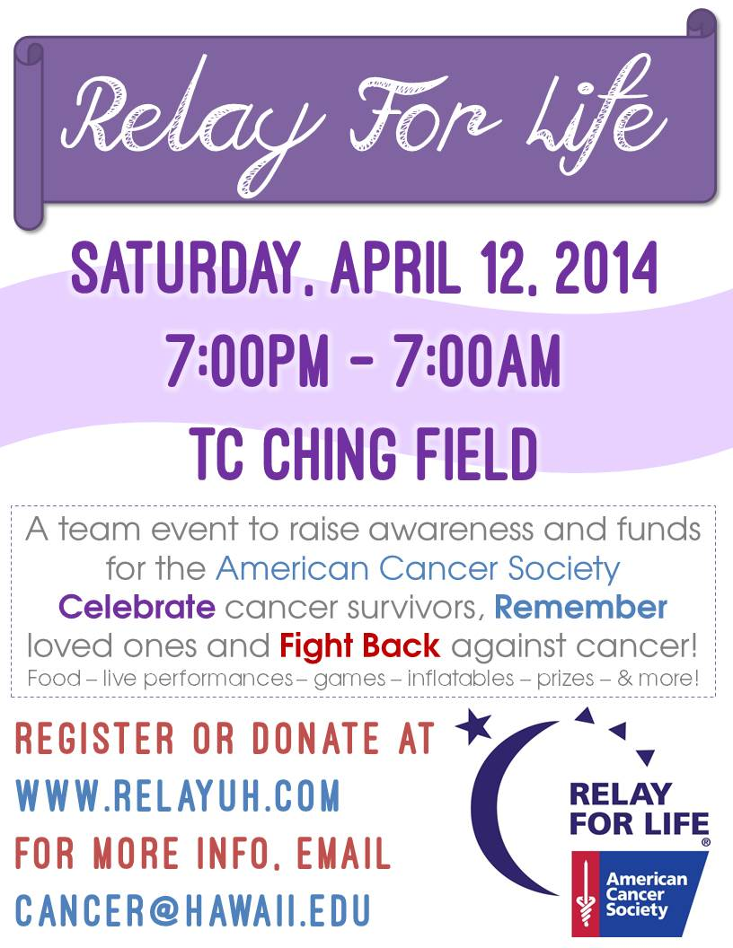 Gallery for gt relay for life 2014 flyer for Relay for life flyer template