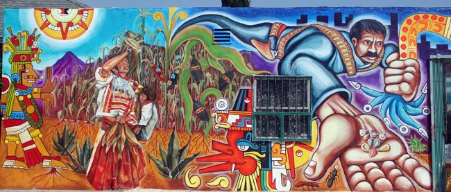 Americansubculture chicano movement quinto sol period 6 for Mural chicano