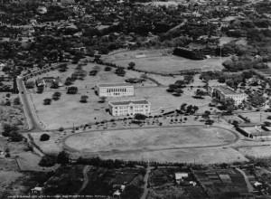 Aerial photo of Mānoa campus, 1926