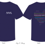 photo of t-shirt front and back design