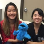 photo of Dr. Hirose, Victoria Lee, Cookie Monster, Michelle Akamine, Dr. Grüter