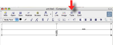 image showing how to access caption tag in Mozilla Composer