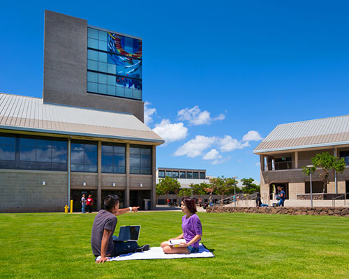 West Oahu campus lawn