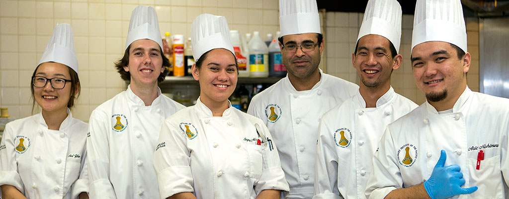 Group of culinary students