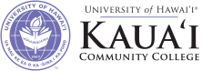 Kauai Community College seal and nameplalte