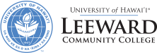Leeward Community College seal and nameplate