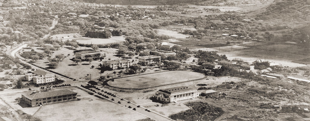University of Hawaii at Manoa aerial - 1932