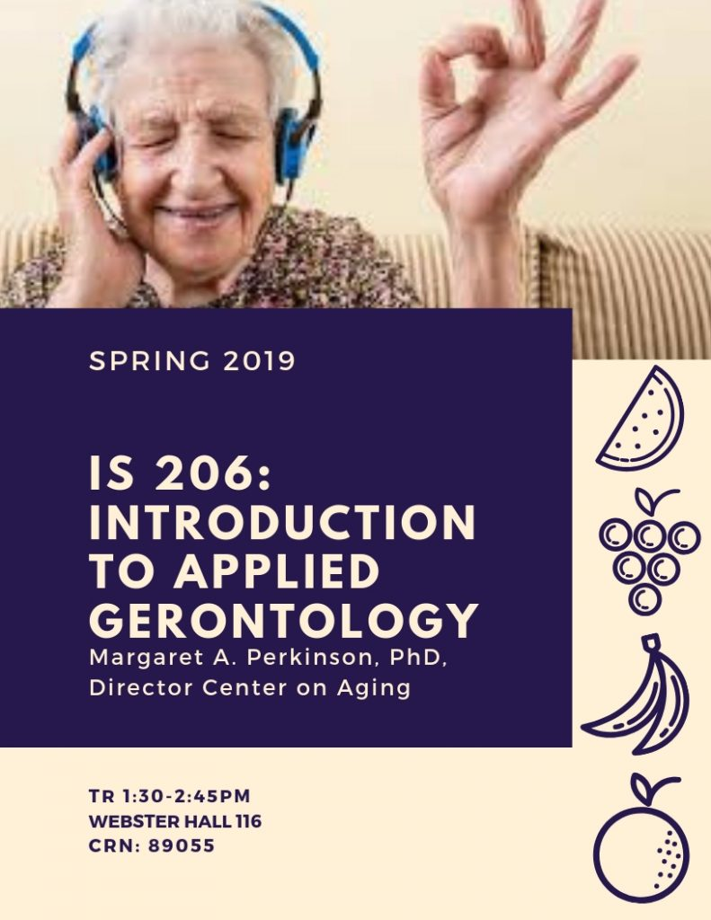 IS 206: Introduction to Applied Geronotology