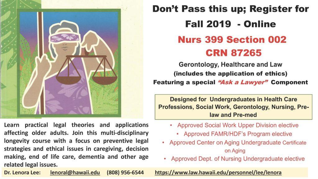 NURS 399 Class Advertisement Flyer