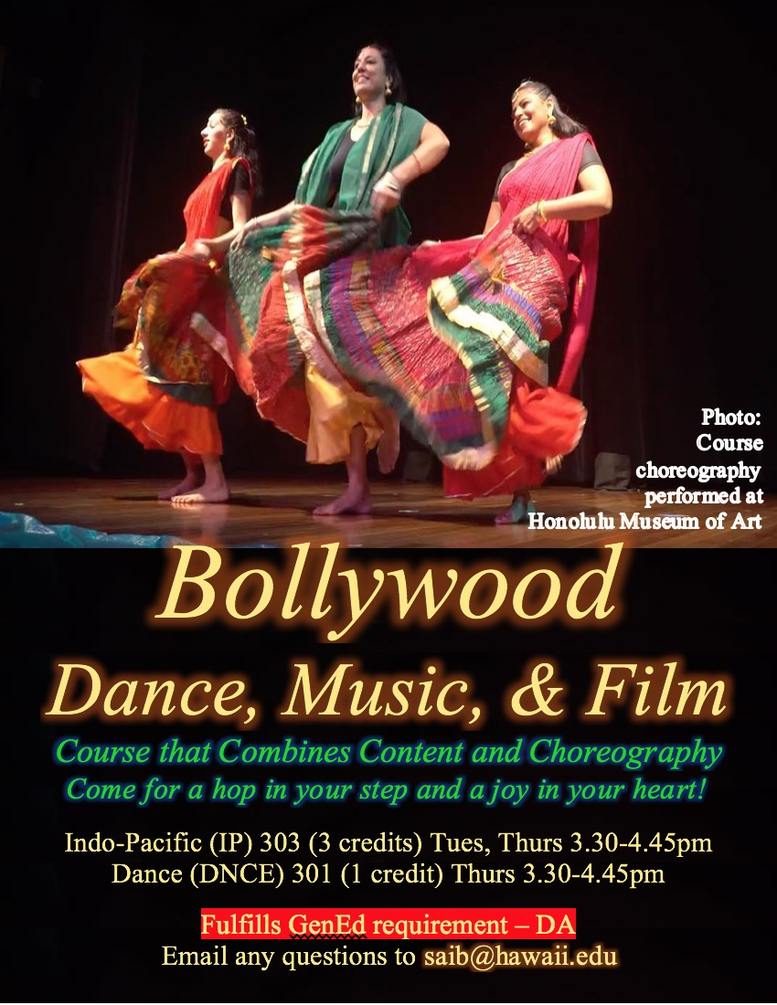 Poster for Dance 301 Class - Asian Dance, Bollywood. All details are in text below.