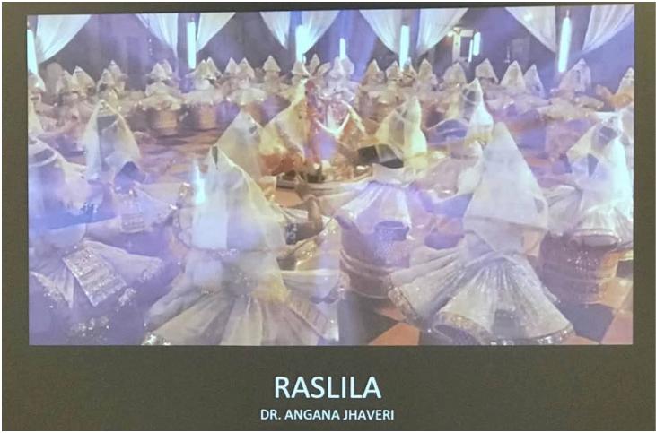Photo of performance by Dr. Angana Jhaveri