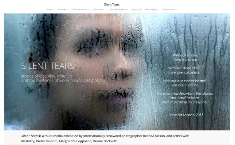 Cover photo of the multimedia exhibition - Silent Tears