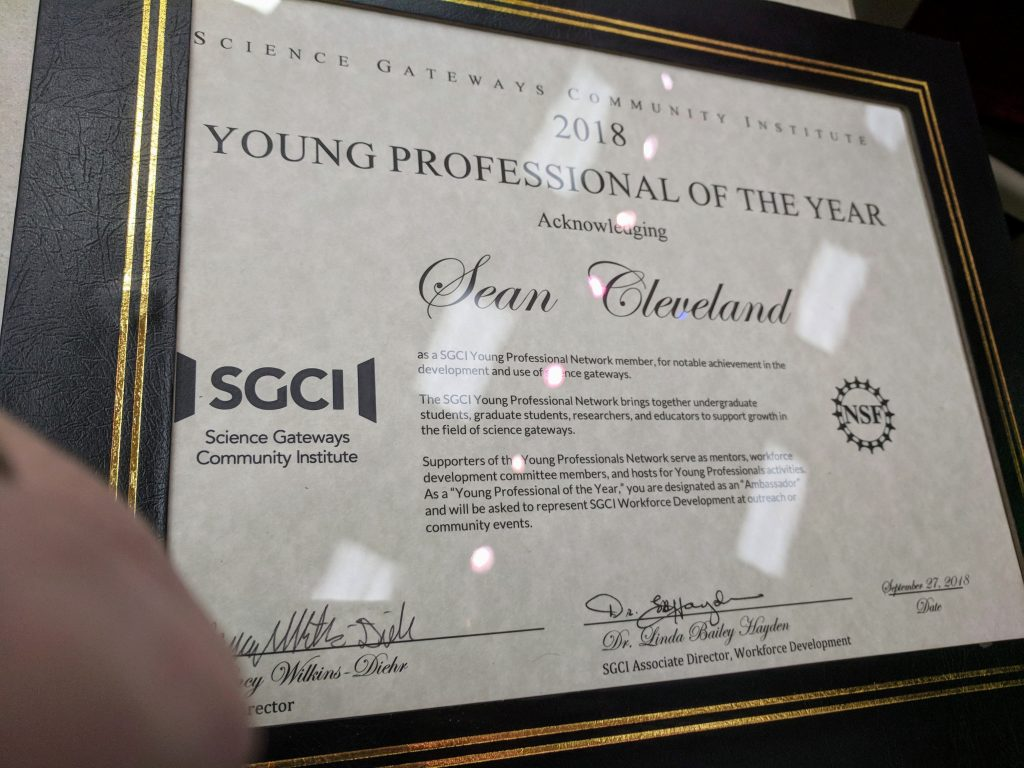 SGCI Young Professional 2018 Award