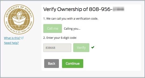 Completed landline verification