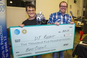 First place winner UH student Clay Nakamura with Ben Nelson, AT&T Product Marketing Director
