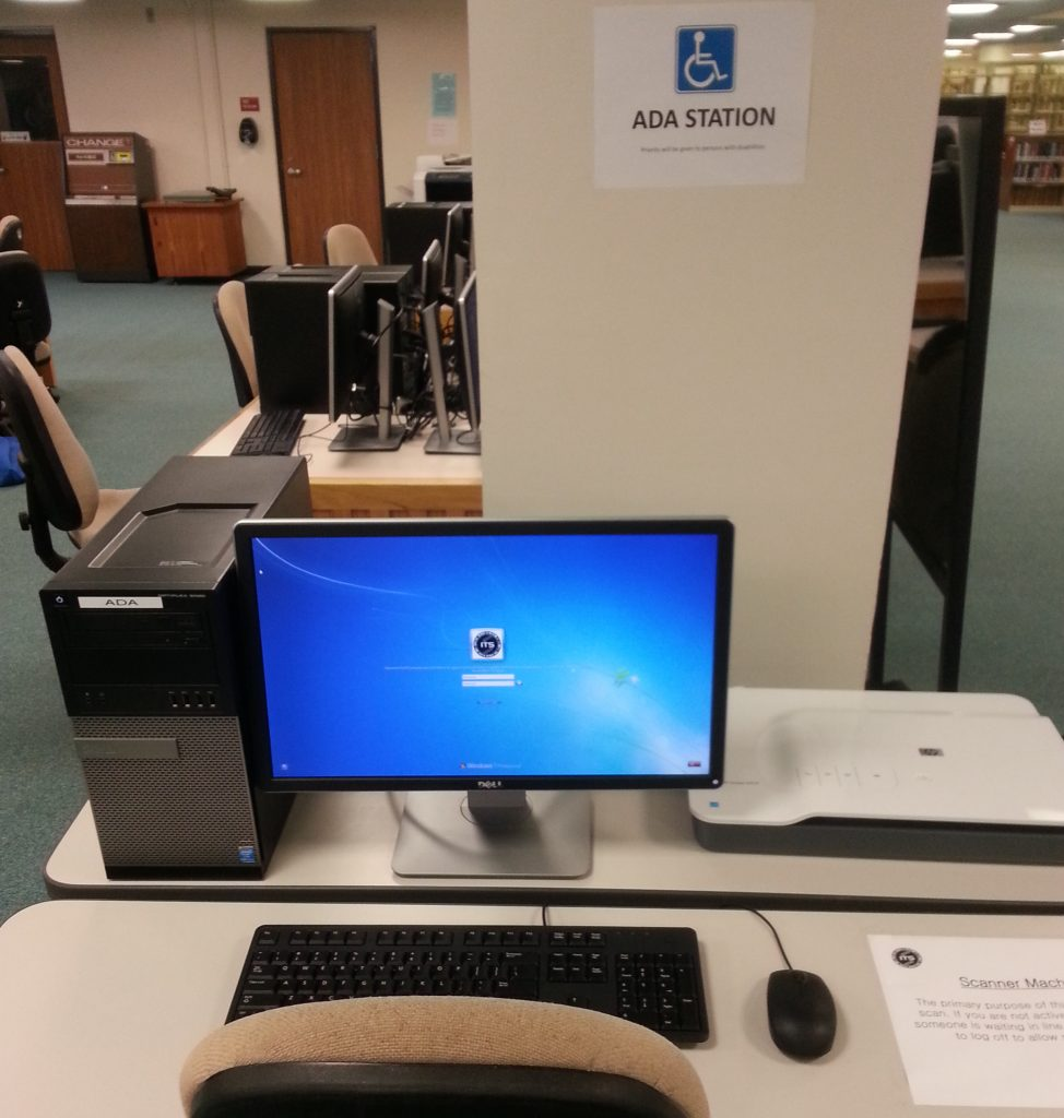 An ADA accessible station located in the Hamilton CLIC Lab