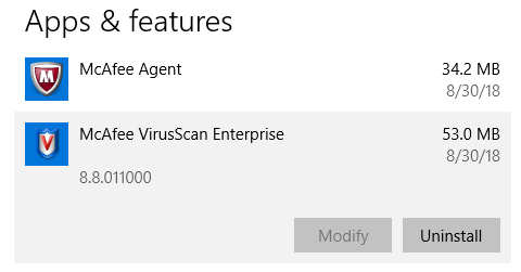 mcafee turn off real time protection