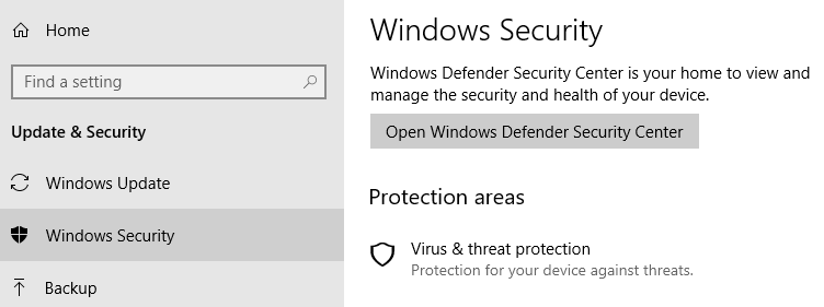 how to pause windows defender security center