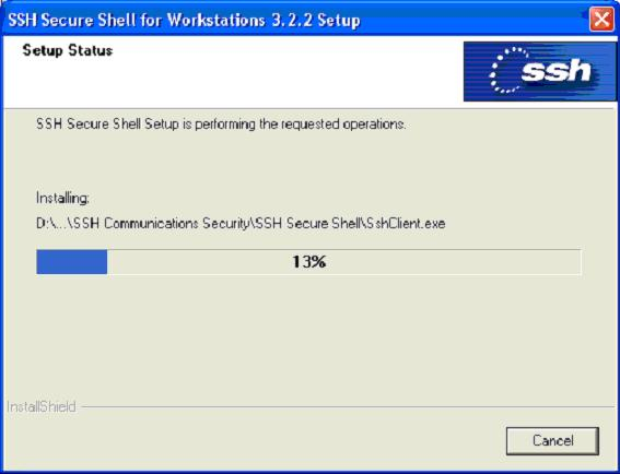 SSH installing