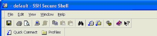 Secure Shell toolbar icons