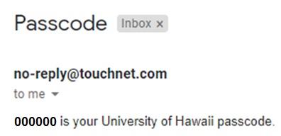 Passcode Email
