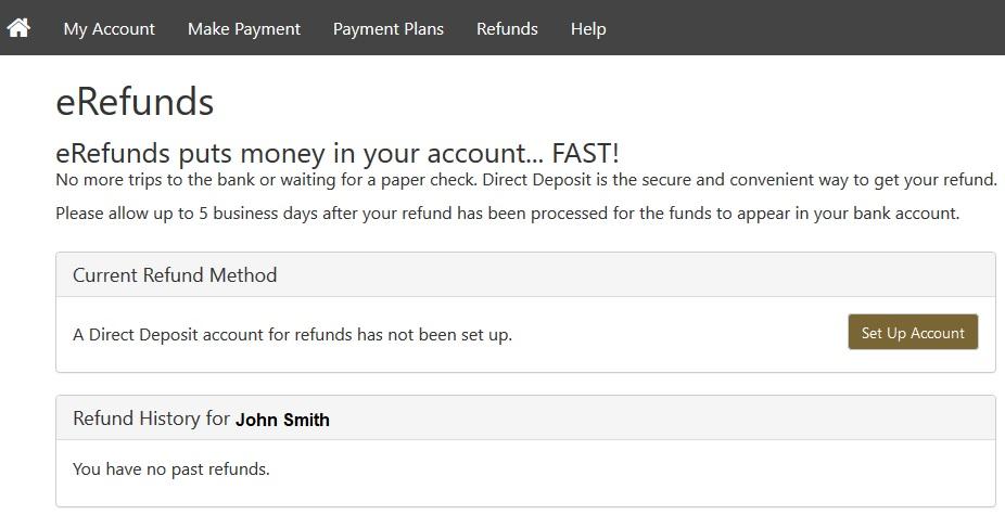 Set Up Account Button Screenshot