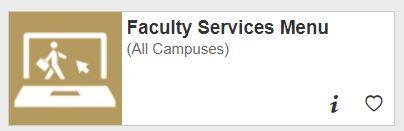Faculty Services Menu