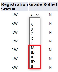 I grades screenshot