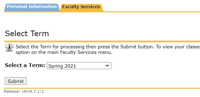 Select Term Screenshot