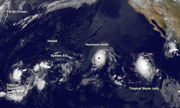 Hurricanes Over The Pacific 2014
