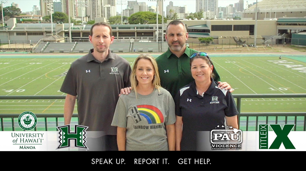 Four UH Mānoa Head Coaches Featured In Anti-violence Public Service Announcement