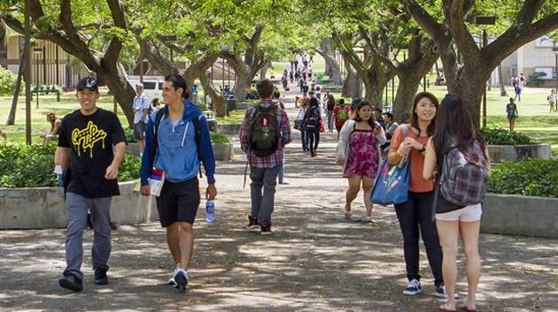 Students Walking On McCarthy Mall