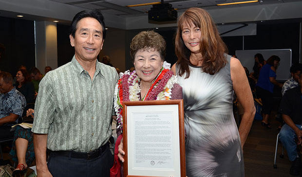 Ching Holding Framed Certificate Of Honors
