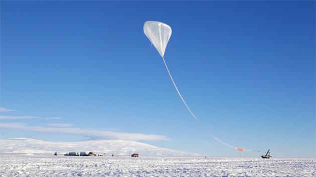 ANITA Balloon Rising Above Antarctica