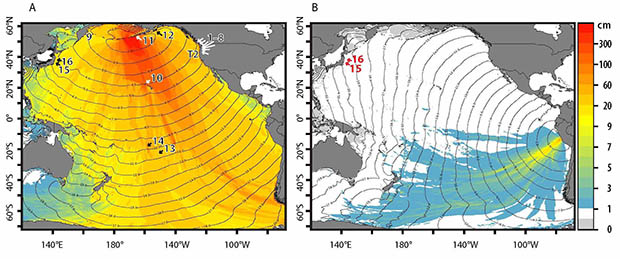 Graphs Of Tsunami Amplitudes In The Aleutians Vs. Lima, Peru