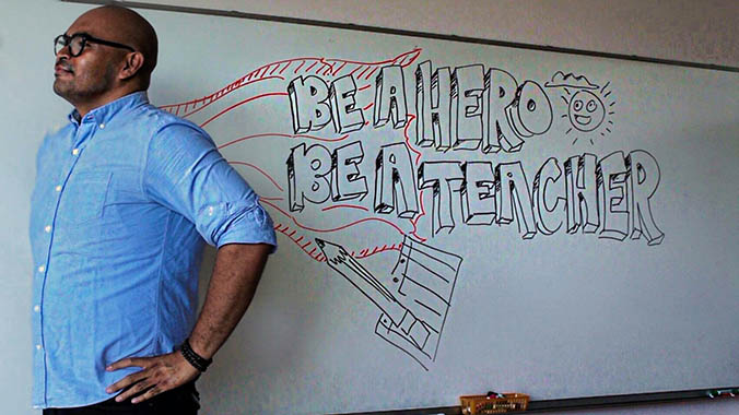 """""""Be A Hero. Be A Teacher."""" Encourages Students To Consider Teaching Careers"""