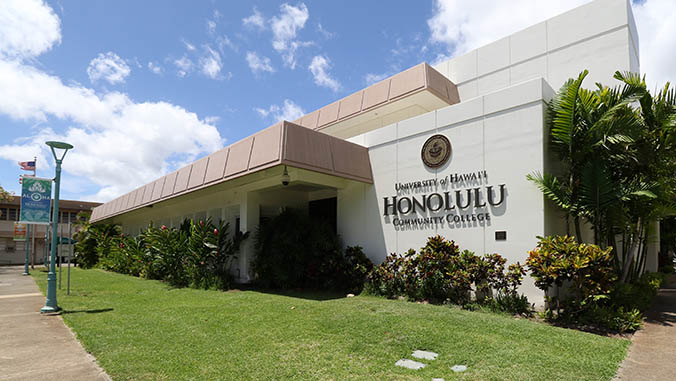 Exterior of Honolulu Community College building