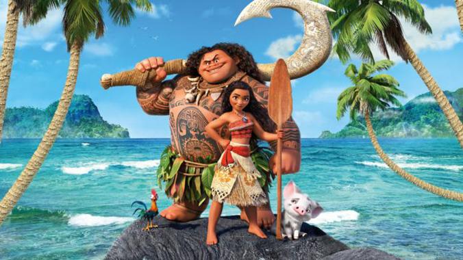 Maui and Moana from Moana animated film