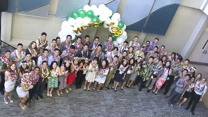 large group of medical students
