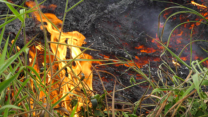 Lava and fire