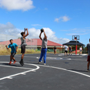 Students enjoy renovated UH Hilo basketball court