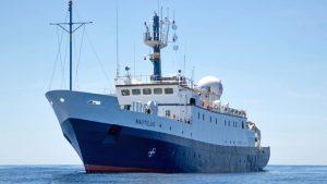 Nautilus ship in the ocean