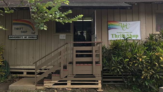 Exterior of the Women's Campus Club Thrift Shop