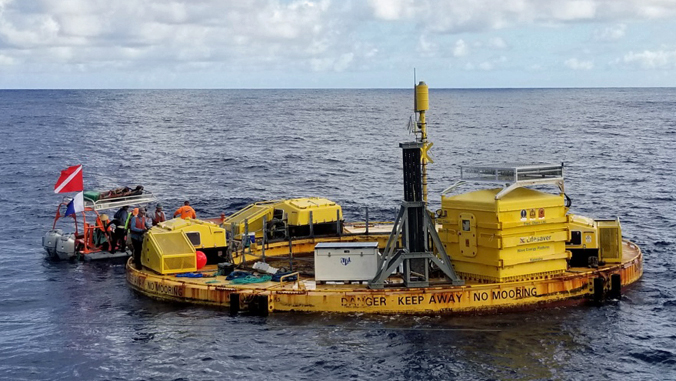 floating ocean test site and equipment