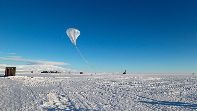 balloon flying in Antarctica
