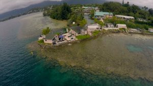 Aeriel of Coral Reef Ecology Lab at HIMB